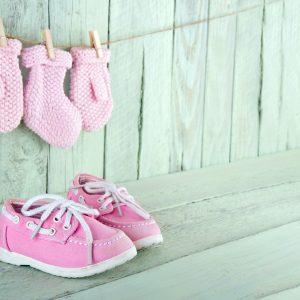 Zapatos de bebé rosados